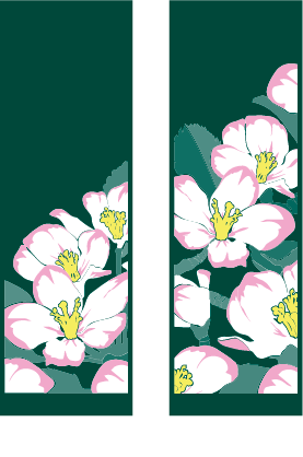 Double Blossoms - Kalamazoo Banner Works