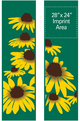 Yellow Cone Flowers - Kalamazoo Banner Works