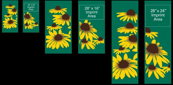 Yellow Cone Flowers - Kalamazoo Banner Works