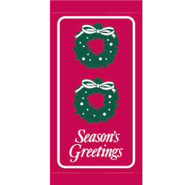 Classic Holiday Wreath - Kalamazoo Banner Works