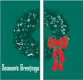 Double Fancy Wreath (Green) - Kalamazoo Banner Works