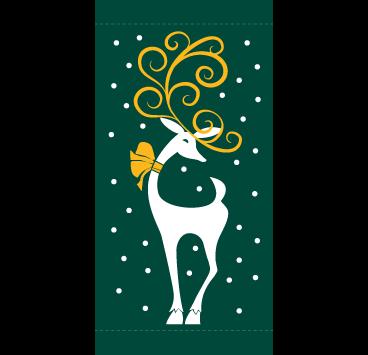 Holiday Reindeer 30X60- Kalamazoo Banner Works