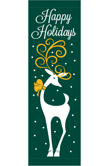 Holiday Reindeer 30X94- Kalamazoo Banner Works