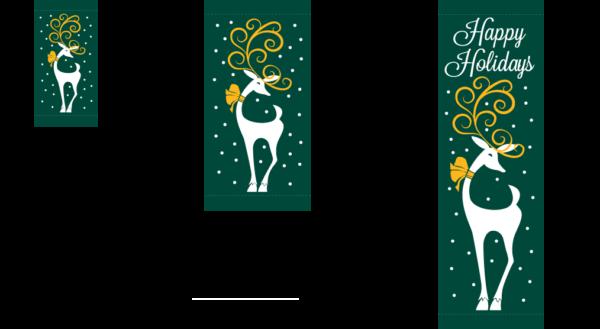 Holiday Reindeer (3)- Kalamazoo Banner Works