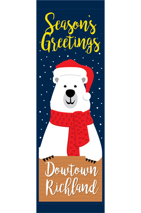 Santa Bear - Street Banner - Holiday 2020