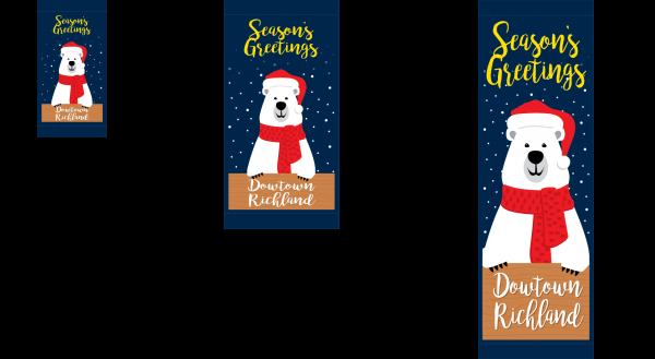 Santa Bear - Street Banner - Holiday 2020