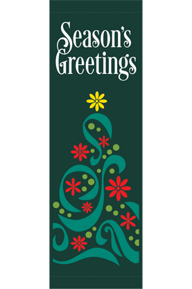 Filigree Tree - Holiday - Street Banners - Kalamazoo Banner Works