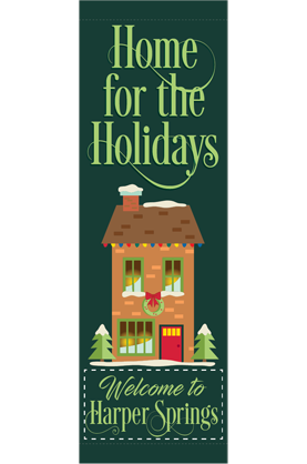 Home for the Holidays - Holiday - Street Banners - Kalamazoo Banner Works