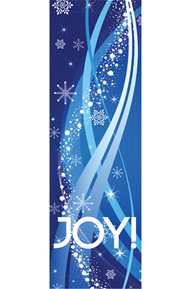 Joy Streamers - Holiday - Street Banners - Kalamazoo Banner Works