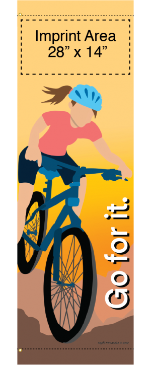 Bike Banners for Trails, Paths, Walkways