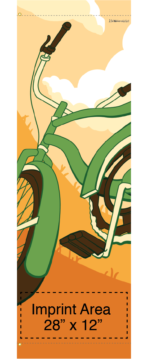 Bike Banners for Trails, Paths, Walkways