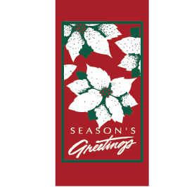 Poinsettia Greetings - Kalamazoo Banner Works
